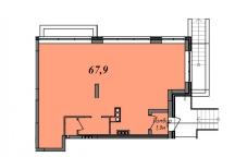 Продам 68м под офис, магазин, отд. вход, 1этаж